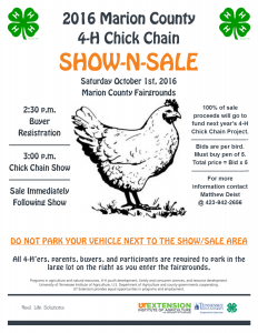 2016 CC Show-Sale Flyer
